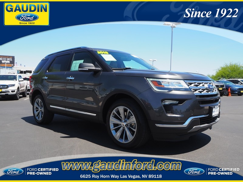 Ford Certified Pre Owned >> Certified Pre Owned 2018 Ford Explorer Limited 4d Sport Utility In