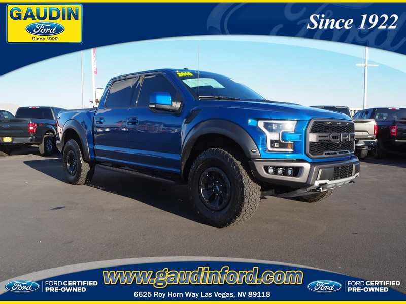 Ford Certified Pre Owned >> Certified Pre Owned 2018 Ford F 150 Raptor 4wd
