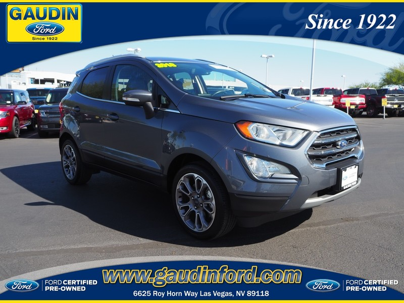 Ford Certified Pre Owned >> Certified Pre Owned 2018 Ford Ecosport Titanium Fwd 4d Sport Utility